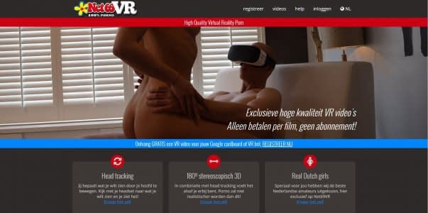 Net69vr.nl nieuwe Nederlandse VR porno site