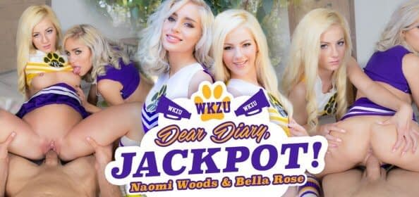 Dear Diary Jackpot WankzVR pornofilm Naomi Woods en Bella Rose