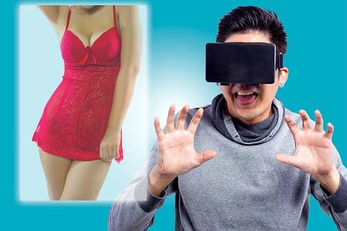 Man kijkt VR live cams