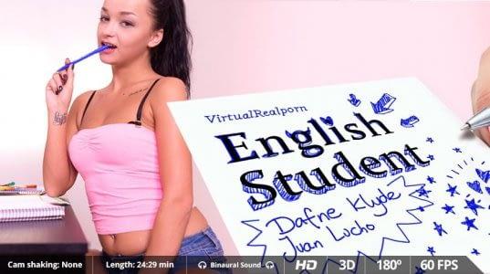 Engelse studente Dafne Klyde