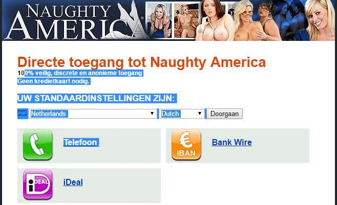 Naughty America Ideal, Telefoon en bankoverschrijving